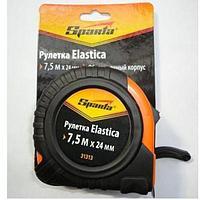 Рулетка Elastica, 7.5 м х 24 мм, обрезиненный корпус// SPARTA