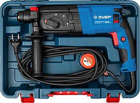 Перфоратор SDS-plus, ЗУБР Профессионал ЗП-24-750 К, реверс, горизонтальный, 2.6 Дж, 750 Вт, кейс, фото 3