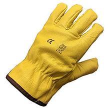 Кожаные утепленные перчатки Водителя