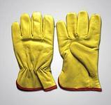 Кожаные утепленные перчатки Водителя, фото 2