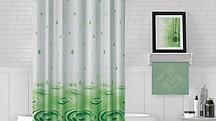 Водонепроницаемая тканевая шторка для ванной Jackline Капли 180x200 см