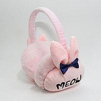 """Меховые наушники (шапка на уши) """"Meow"""", розовые"""