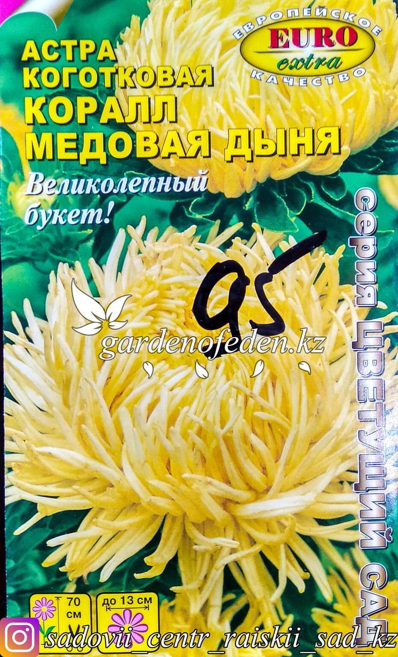 """Семена астры коготковой - Euro Extra """"Медовая Дыня"""""""