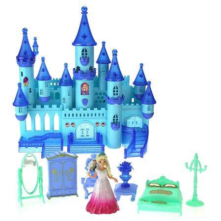 Замок для девочек с музыкальными и световыми эффектами и кукла Эльза 29008 (Холодное сердце) - фото 4