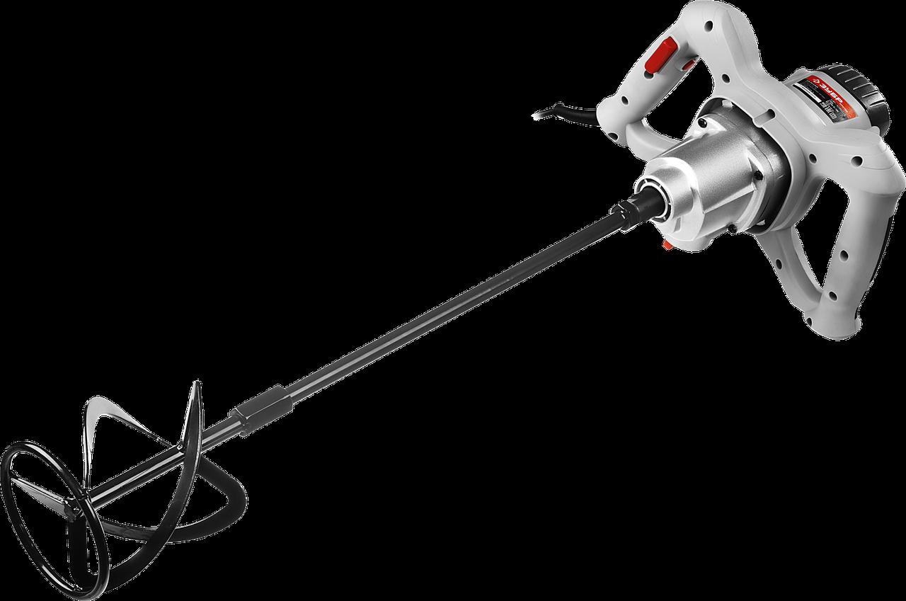 Миксер строительный, ЗУБР МР-1050-1, 2-скоростной,1050Вт, М14 патрон