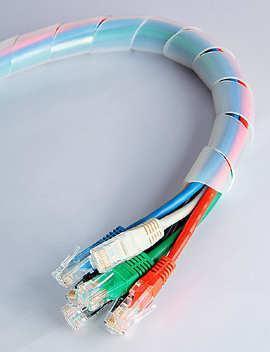 Спиральная лента (серпантиновая трубка) D=19 (10 метров в рулоне)