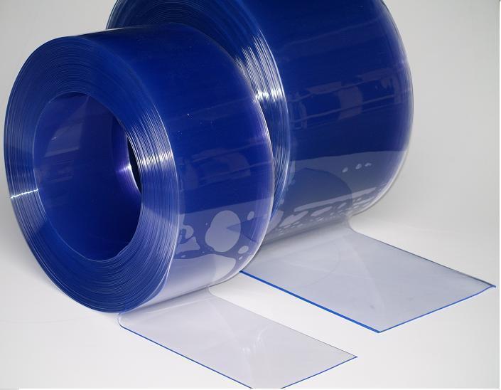 Пленка для ПВХ завес синяя прозрачная 300х3 мм