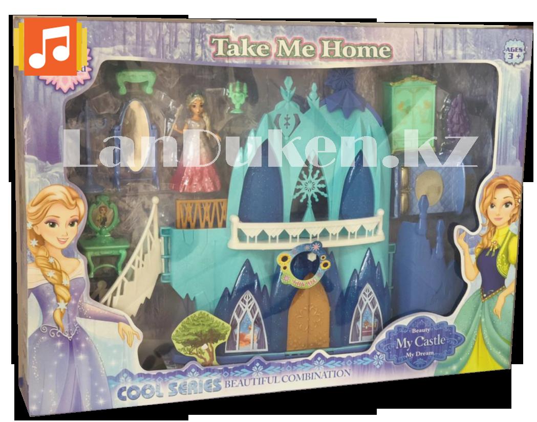 Замок для девочек с музыкальными и световыми эффектами и кукла Эльза 29008 (Холодное сердце) - фото 1