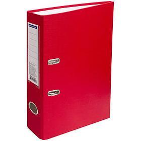 Папка-регистратор 50 мм, красная с карманом на корешке