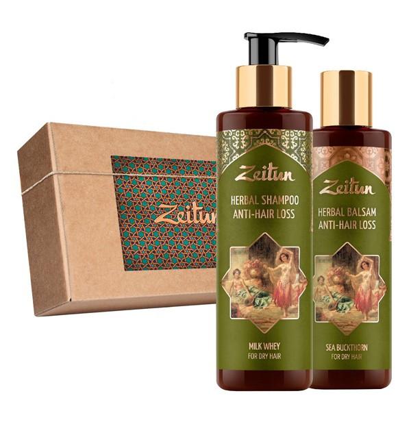 Подарочный набор «Против выпадения волос» шампунь и бальзам Zeitun (Иордания)
