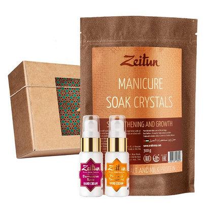 Подарочный набор для маникюра «Укрепляющий» крем для рук и соль для маникюра Zeitun (Иордания), фото 2