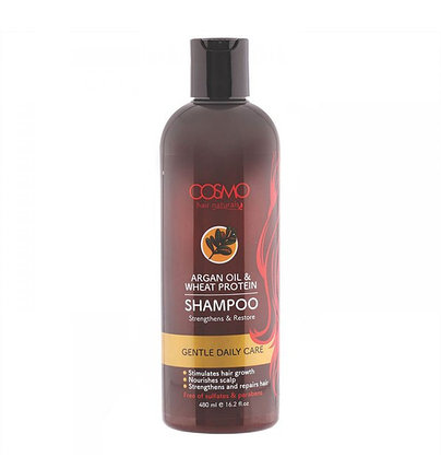 Шампунь с аргановым маслом и пшеничным белком Cosmo Argan Oil & Wheat Protein Shampoo (480 мл), фото 2