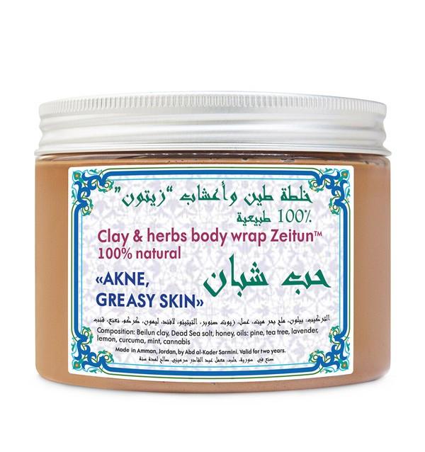 Обертывание для лица и тела №4 от акне для жирной и проблемной кожи Zeitun (500 мл, Иордания)