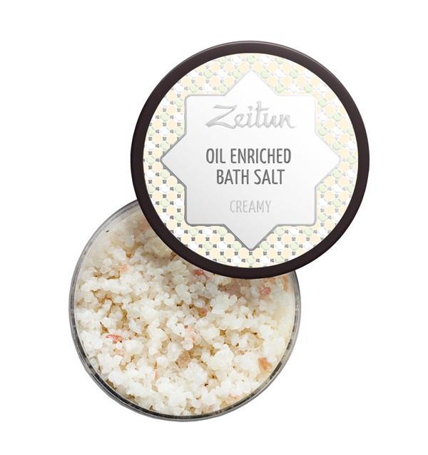 Сливочная ароматическая соль для ванн с маслом миндаля и козьим молоком Zeitun (250 мл, Иордания)