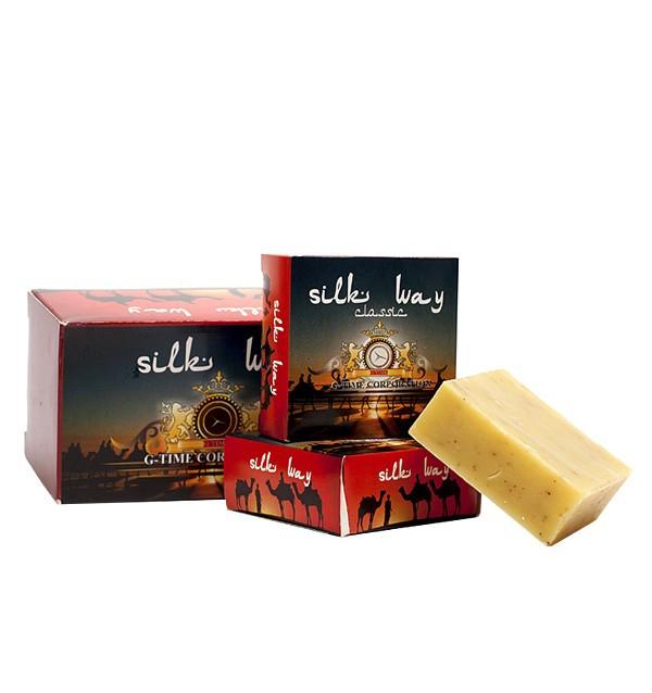 Лечебное шунгитовое мыло ручной работы Silk Way