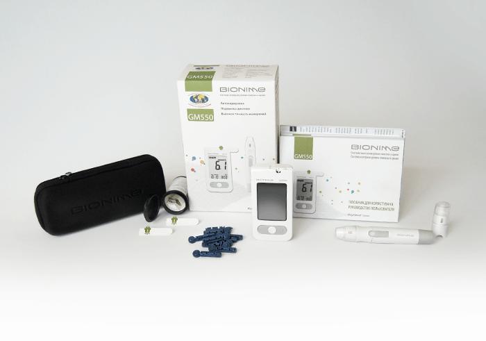 GM550 Rightest Blood Glucose Monitoring System/Система контроля уровня глюкозы в крови Bionime Right