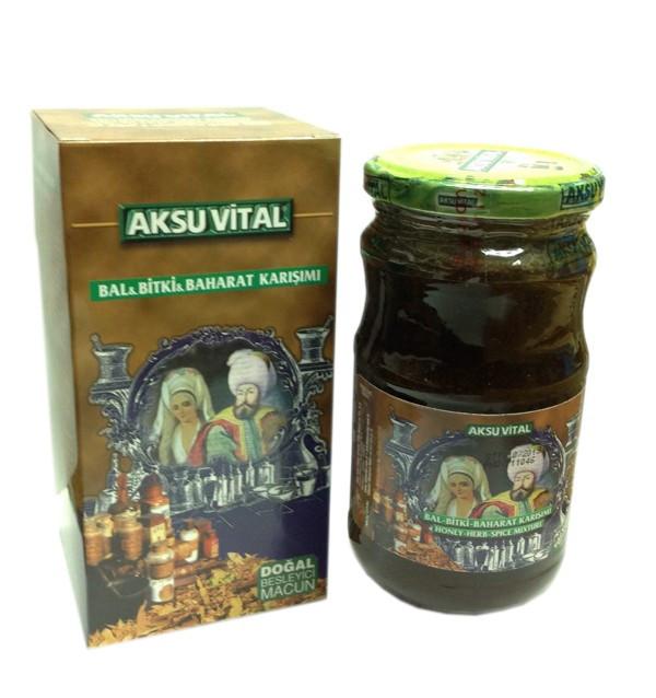 Медовая паста с лекарственными травами Aksu Vital
