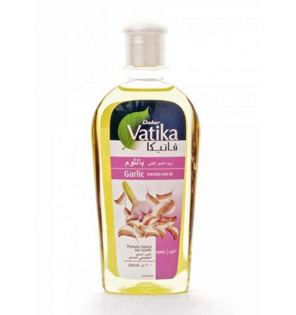Масло для волос с чесноком Dabur Vatika Garlic Enriched Hair Oil (200 мл)