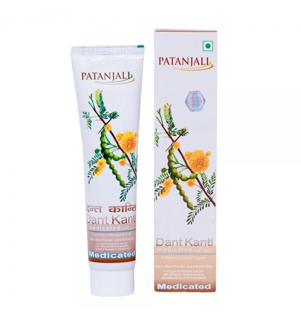 """Зубная паста гель для чувствительных зубов """"Divya Patanjali Medicated Oral Gel"""""""