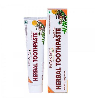 """Зубная паста для чувствительных зубов  """"Patanjali Herbal Toothpaste"""", фото 2"""