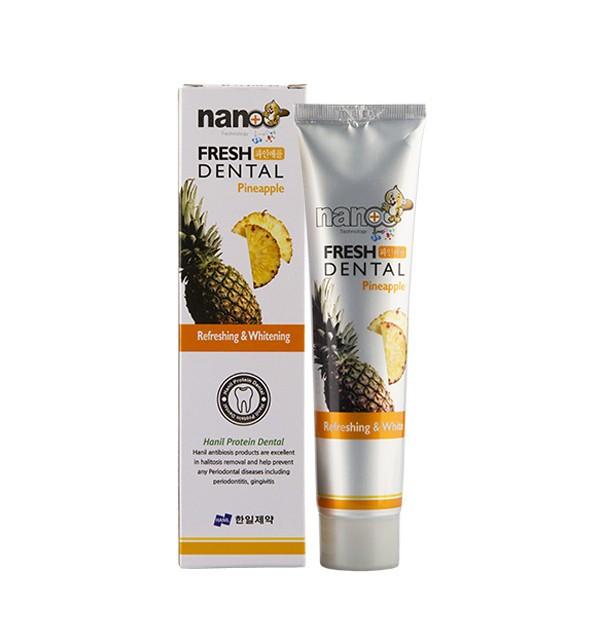 Зубная паста с экстрактом ананаса Hanil Nano Technology Fresh Dental Pineapple (160 г)