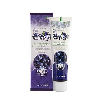 Зубная паста с экстрактом черники и перечной мяты Hanil Blueberry Toothpaste (170 г), фото 2