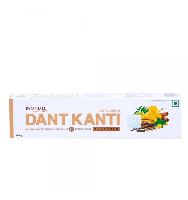 "Улучшенная аюрведическа зубная паста ""Divya Patanjali Dant Kanti Advanced Tooth Paste"""