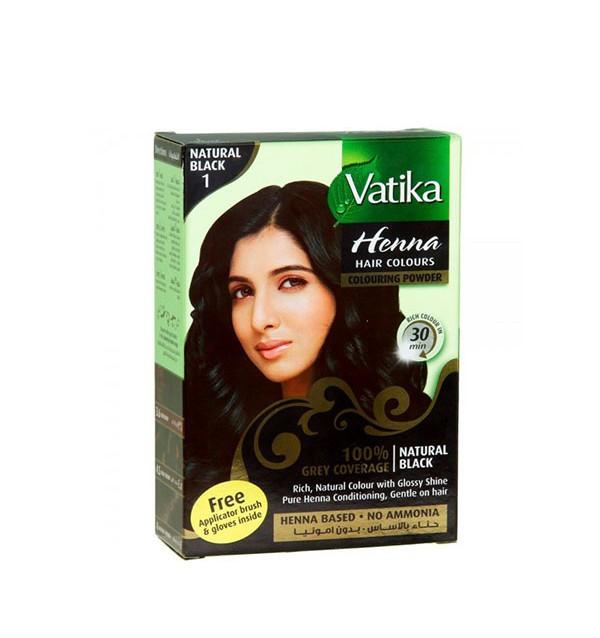 Хна для окраски волос Vatika Henna Natural Black (черная)