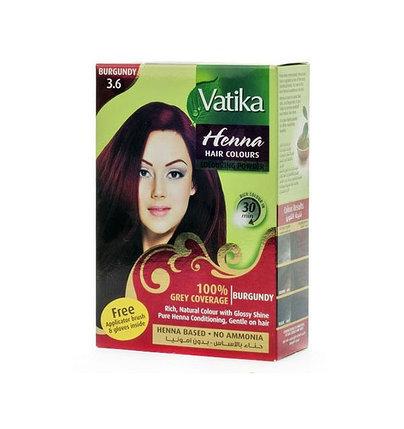 Хна для окраски волос Vatika Henna Natural Burgundy (бордовая), фото 2