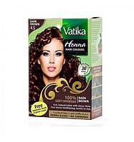 Хна для окрашивания волос  Vatika Henna Dark Brown (темно-коричневая)