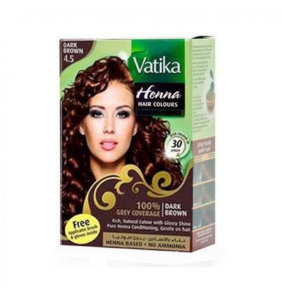 Хна для окрашивания волос  Vatika Henna Dark Brown (темно-коричневая), фото 2
