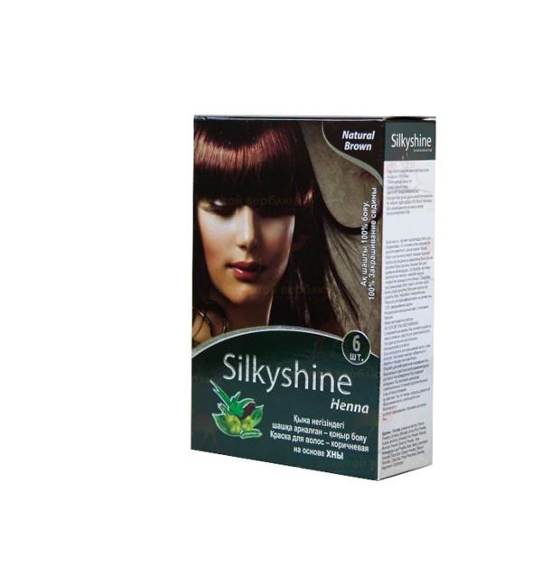 Хна для окрашивания волос Silky Shine (коричневая)