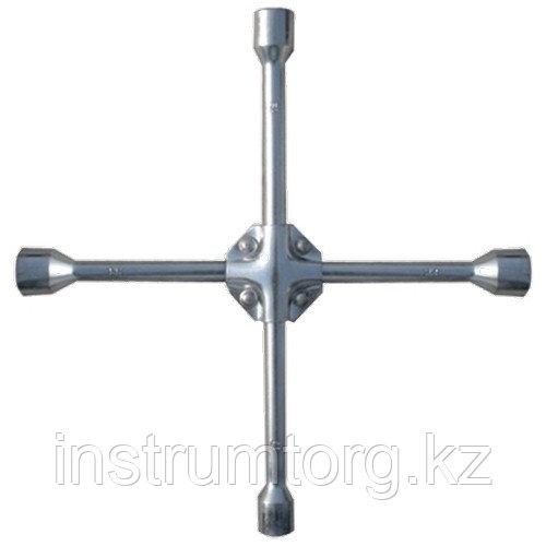 """Ключ-крест баллонный, 17 х 19 х 21 мм, квадрат 1/2"""", усиленный, толщ. 16 мм// Matrix"""