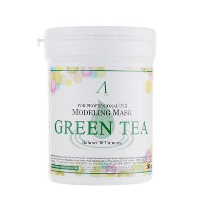 Альгинатная маска успокаивающая и антиоксидантная с экстрактом зеленого чая Anskin (240 гр), фото 2