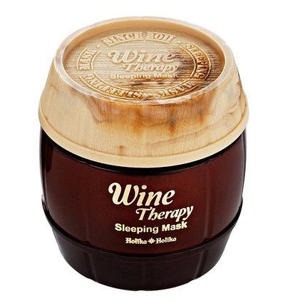 Антивозрастная маска на основе экстракта красного вина Holika Holika Wine Therapy Sleeping Mask Red Wine (120 мл), фото 2