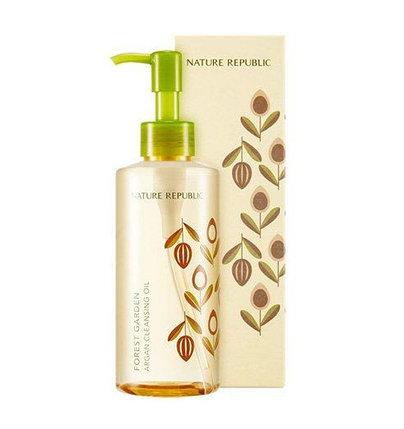 Аргановое очищающее масло для лица Nature Republic Forest Garden Argan Cleansing Oil (200 мл), фото 2