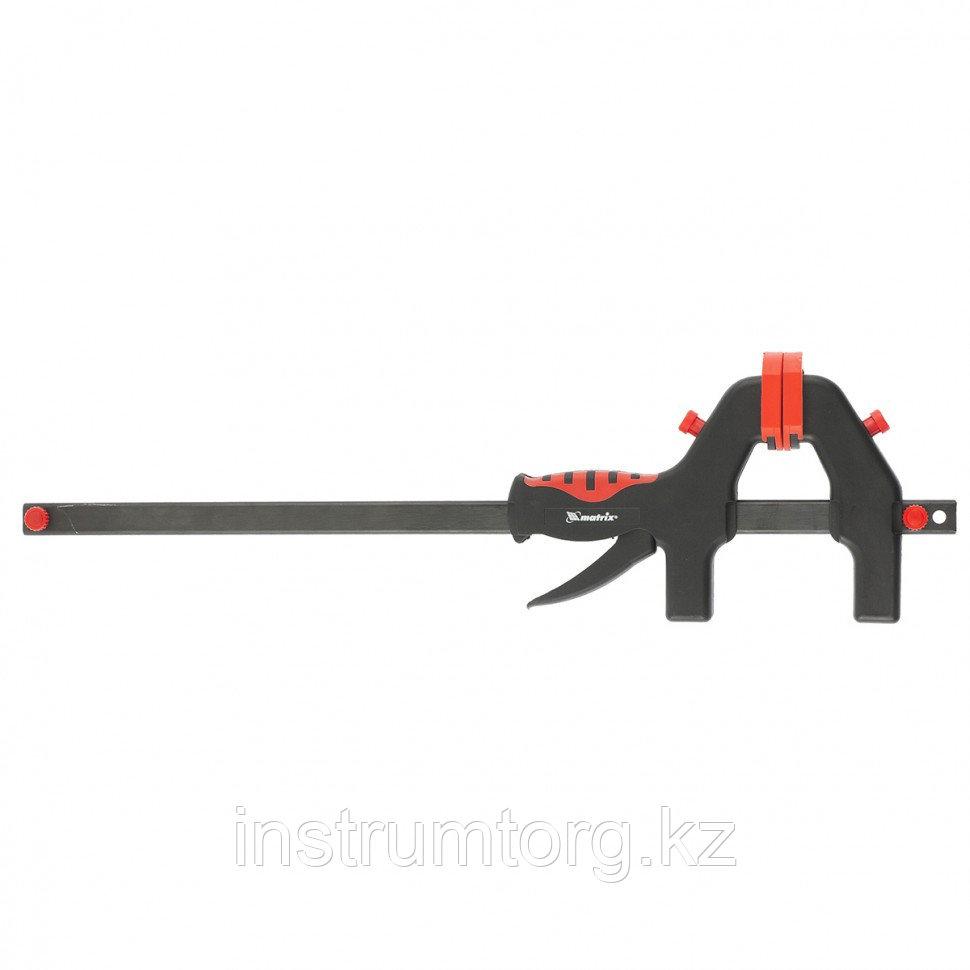 Струбцина универсальная, быстрозажимная, F-образная, 300 х 605 х 90 мм, пластиковый корпус// Matrix