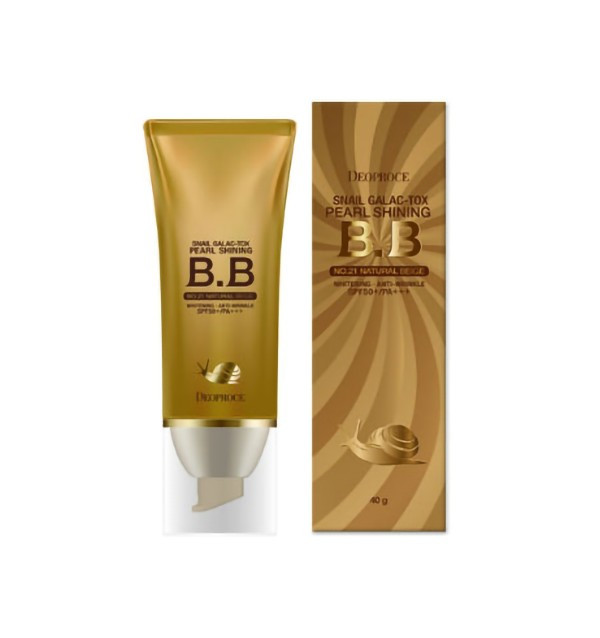 ББ крем на основе муцина улитки Deoproce Snail Galac-Tox Pearl Shining BB SPF50+/PA+++ №21 (40 гр)