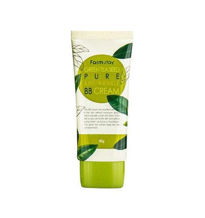 ББ крем с экстрактом зеленого чая Farm Stay Green Tea Seed Pure Anti-Wrinkle BB Cream (40 г), фото 2
