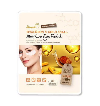 Гидрогелевые патчи Shinapple Hyaluron & Gold Snail Moisture Eye Patch (33 г), фото 2