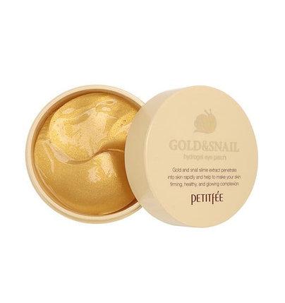 Гидрогелевые патчи с золотом и секретом улитки против морщин Petitfee Gold & Snail Hydrogel Eye Patch (84 г), фото 2