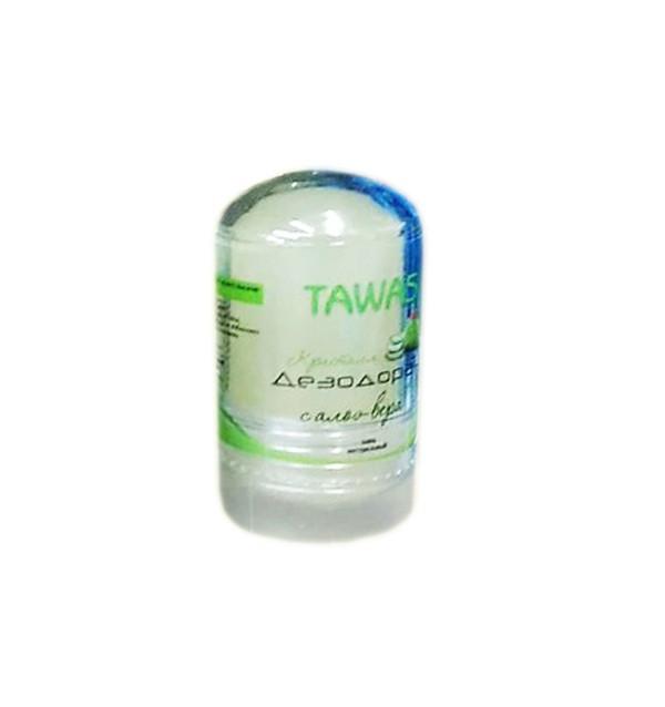 Дезодорант-алунит с экстрактом алоэ вера Tawas Crystal (60 г, Филиппины)