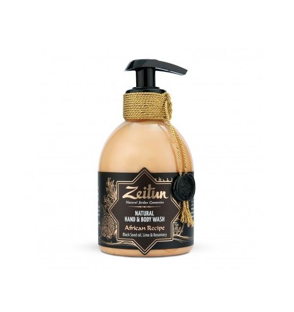 """Жидкое крем-мыло Zeitun """"Африканский купаж: масло чёрного тмина, лайм и розмарин"""""""