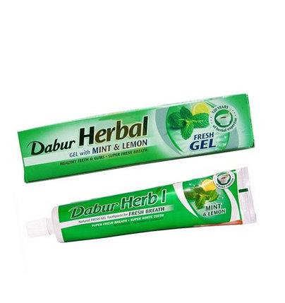 Зубная паста Dabur Herbal Mint & Lemon Gel, фото 2