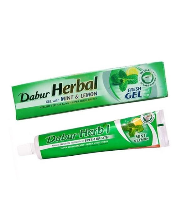 Зубная паста Dabur Herbal Mint & Lemon Gel