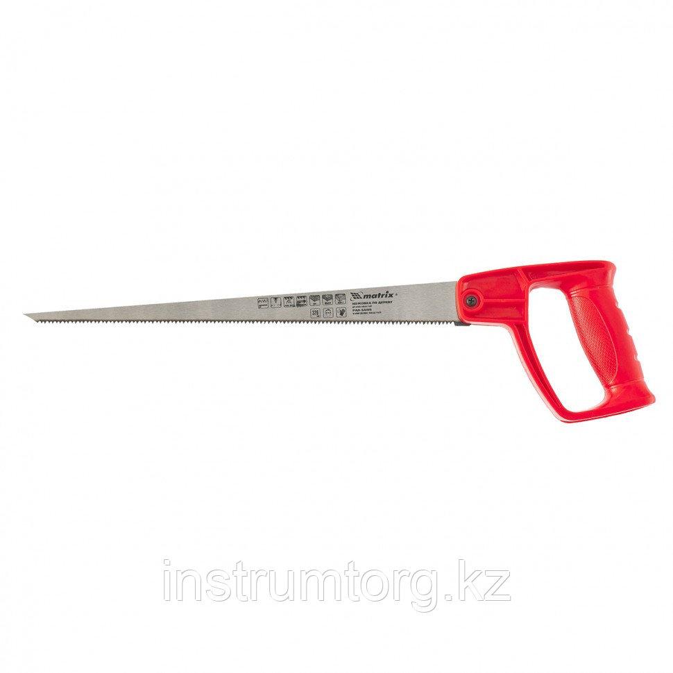 Ножовка по дереву для мелких пильных работ, 320 мм, цельнолитая однокомпонентная рукоятка// Matrix