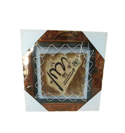 Квадратная картина с меховой аппликацией, фото 2