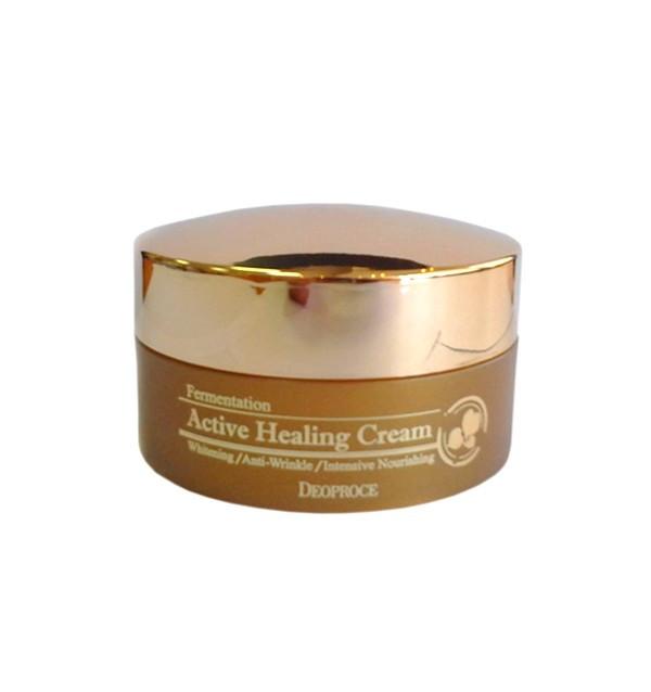 Кислородный крем против морщин Deoproce Fermentation Active Healing Cream (100 г)