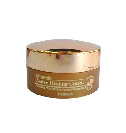 Кислородный крем против морщин Deoproce Fermentation Active Healing Cream (100 г), фото 2