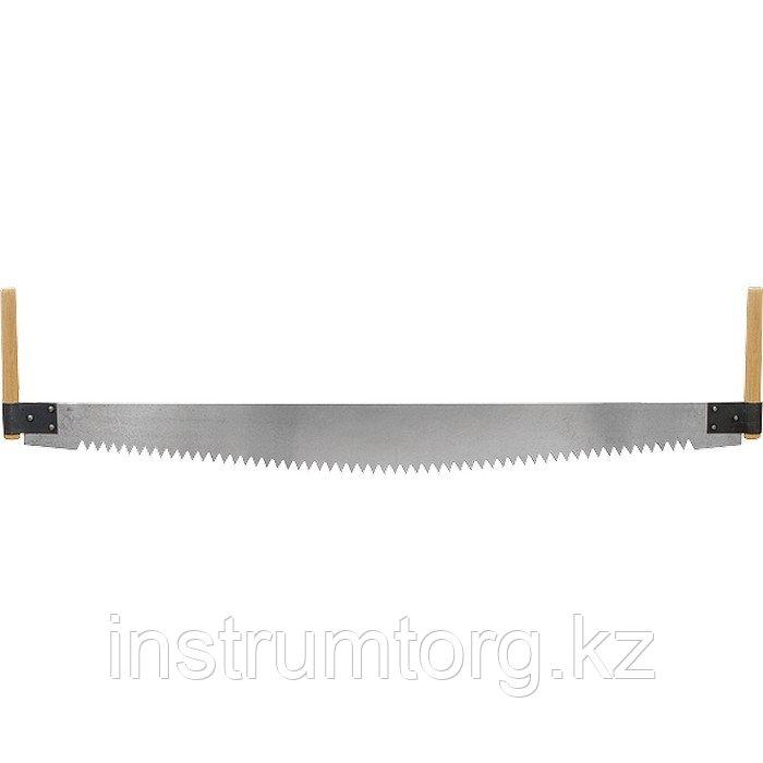 Пила двуручная, 1000 мм, деревянные рукоятки// СИБРТЕХ